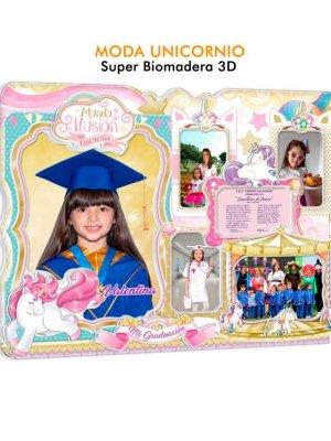 Diploma biomadera Moda unicornio niñas