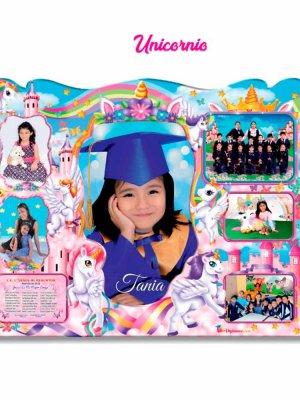 Diploma biomadera Unicornio niñas