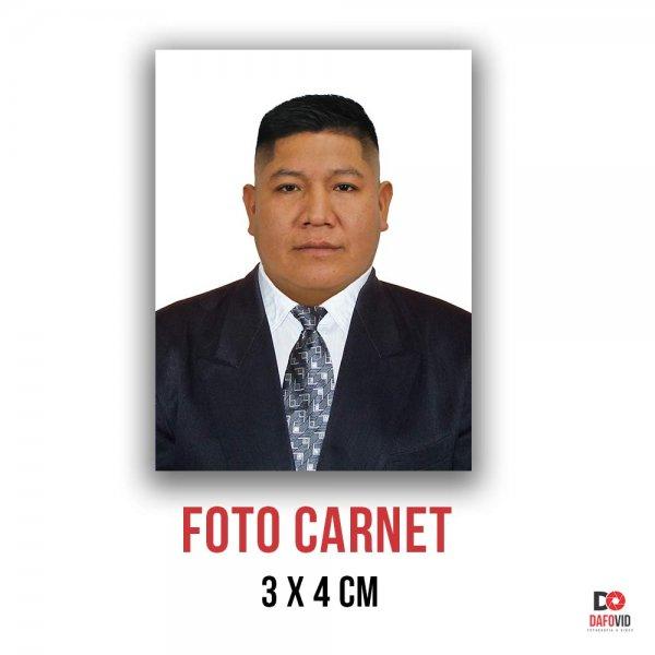 Foto carnet Peruano