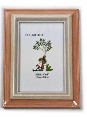 Marco para fotos naranjillo marfil 10×15 cm