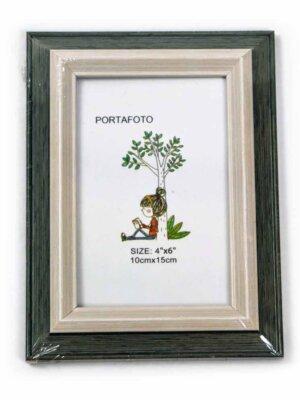 Marco para fotos verde marfil 10×15 cm