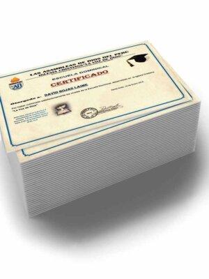 Impresión de diplomas en papel hilo